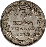 ⅓ Thaler - Wilhelm II – reverse
