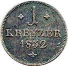 1 Kreuzer - Wilhelm II and Friedrich Wilhelm – reverse