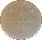 4 Heller - Wilhelm I – reverse
