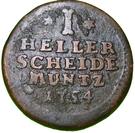 1 Heller - Wilhelm VIII – reverse