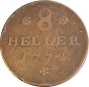 8 Heller, 1/48 Thaler - Friedrich II – reverse