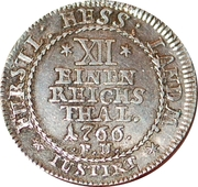 1/12 Thaler - Friedrich II – reverse