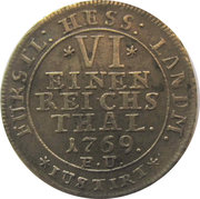 ⅙ Thaler - Friedrich II – reverse