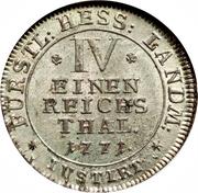 ¼ Reichsthaler - Friedrich II – reverse
