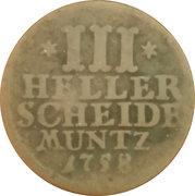 3 Heller - Wilhelm VIII – reverse