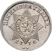 ½ Thaler - Friedrich II (Halber Sterntaler/half Blooddollar) – reverse