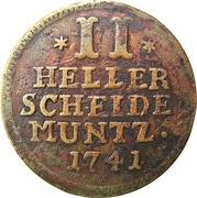 2 Heller - Friedrich I – reverse