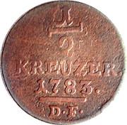 ½ Kreuzer - Friedrich II. – reverse
