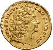 ½ Ducat - Friedrich I. (Edergold Halbdukat) – obverse