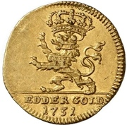 ½ Ducat - Friedrich I. (Edergold Halbdukat) – reverse
