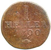 1 Heller - Wilhelm IX. – reverse