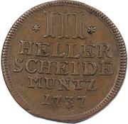 3 Heller - Friedrich I – reverse