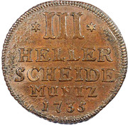 3 Heller - Friedrich I. – reverse