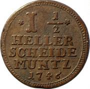 1-½ Heller - Friedrich I – reverse