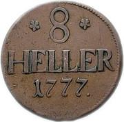 8 Heller - Friedrich II. – reverse