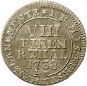 ⅛ Thaler - Friedrich I. – reverse