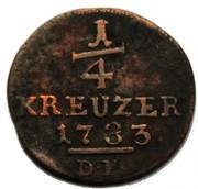 ¼ Kreuzer - Friedrich II – reverse