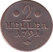 2 Heller - Wilhelm IX – reverse