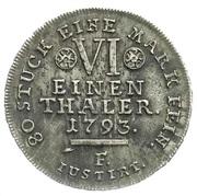 ⅙ Thaler - Wilhelm IX – reverse