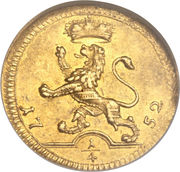 ¼ Ducat - Wilhelm VIII (Trade Coinage) – reverse