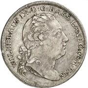 ½ Thaler - Wilhelm IX (Bieberer Ausbeute) – obverse