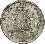 ½ Thaler - Wilhelm IX (Bieberer Ausbeute) – reverse