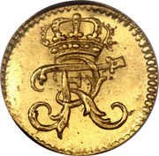 ¼ Ducat - Friedrich I (Trade Coinage) – obverse