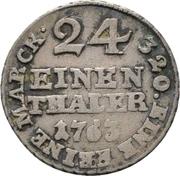 1/24 Thaler - Friedrich Wilhelm von Westfalen – reverse