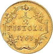 ½ Pistole - Friedrich Wilhelm von Westfalen – reverse