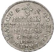 ⅓ Thaler - Friedrich Wilhelm von Westphalen – reverse