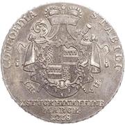 1 Thaler - Friedrich Wilhelm von Westfalen – reverse