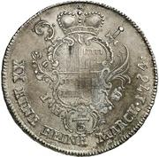 ½ Thaler - Friedrich Wilhelm von Westfalen – reverse