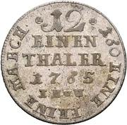 1/12 Thaler - Friedrich Wilhelm von Westfalen – reverse
