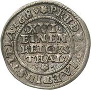 1/16 Thaler - Jobst Edmund von Brabeck – reverse