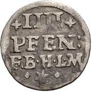 4 Pfennig - Jobst Edmund von Brabeck – reverse