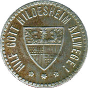 25 Pfennig - Hildesheim – reverse