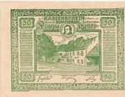 50 Heller (Hinterbrühl) – obverse