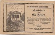 25 Heller (Hinterbrühl) – obverse
