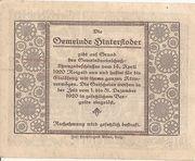 50 Heller (Hinterstoder) -  reverse