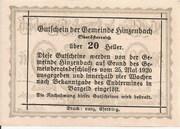 20 Heller (Hinzenbach) – reverse