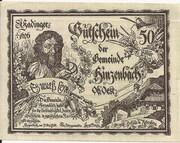 50 Heller (Hinzenbach) – obverse