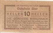 10 Heller (Hirschbach) -  obverse