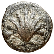 Sextans A* (Edetans, Arse/Saguntum mint, scallop and dolphin) – obverse