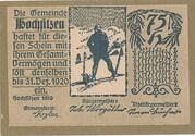75 Heller (Hochfilzen in Tirol) – obverse