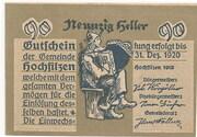 90 Heller (Hochfilzen in Tirol) -  obverse