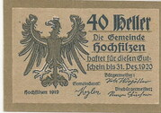 40 Heller (Hochfilzen in Tirol) – obverse