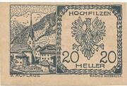 20 Heller (Hochfilzen in Tirol) -  reverse