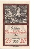 20 Heller (Hofgastein) – obverse