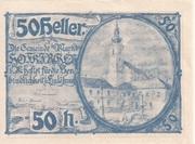 50 Heller (Hofkirchen im Mühlkreis) – obverse