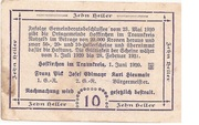 10 Heller (Hofkirchen im Traunkreis) -  reverse